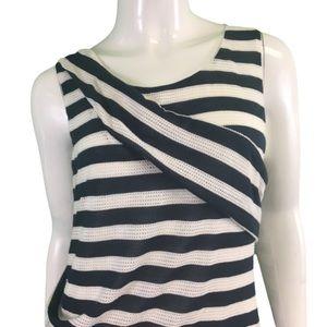 NWT Mystree Navy/White Striped Dress